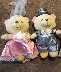 Bride and groom teddy bears for display  Calgary, T3A