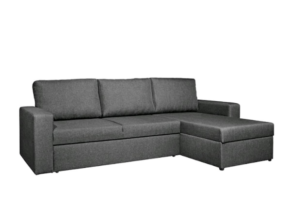 online store 7d417 0fc93 VILS Chaise Sofa Bed (Grey) with storage