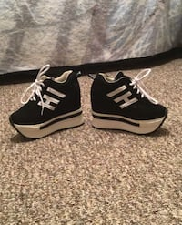 Ultra-High Wedge Sneakers / Creepers (never worn)
