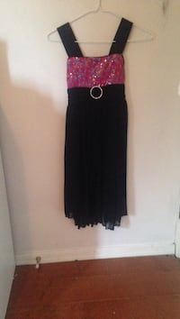 Women's black and pink sleeveless dress Kamloops, V2E 1Y9