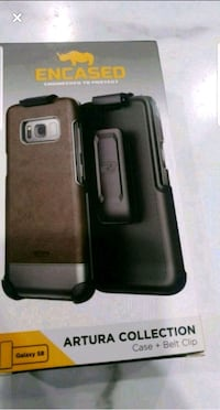 Samsung s8 leather case and belt clip Brampton, L6R