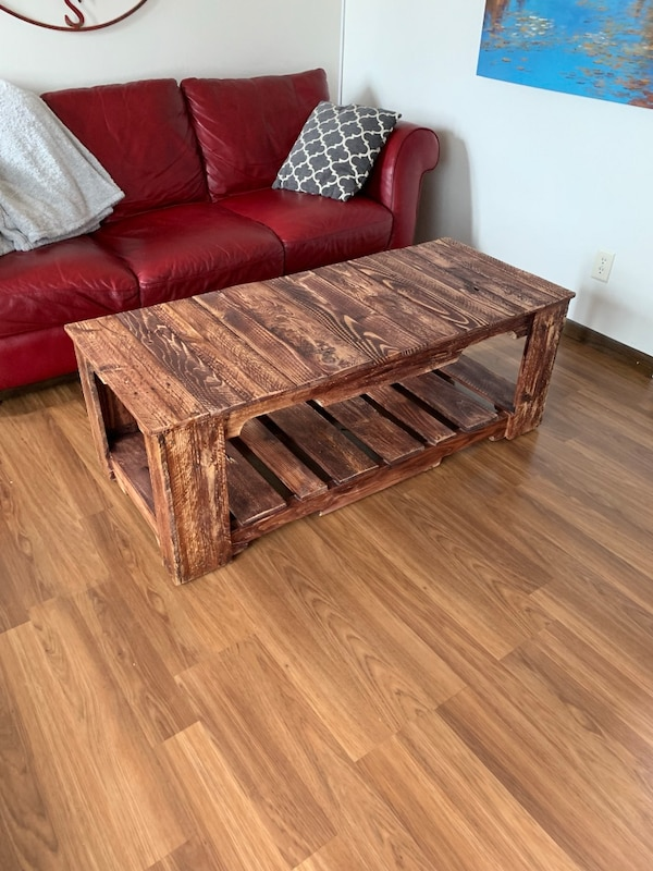 Used Custom Pallet Wood Coffee Table For Sale In Somerset Letgo