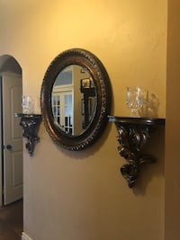 black wooden framed wall mirror Oklahoma City, 73012