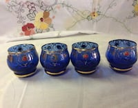Blue and Gold Made in Italy 4 Shot Glasses! Fallston, 21047