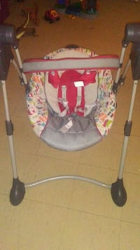 baby's gray and red swing chair Toronto, M5A 3Y9