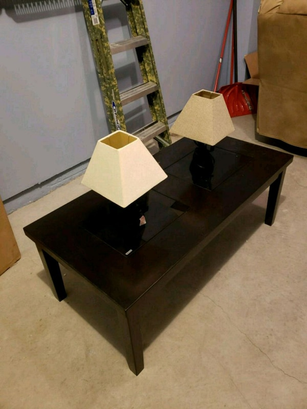 Table and Two Lamps
