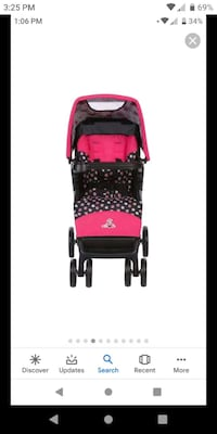 Pink Minnie Mouse Single Stroller !!!