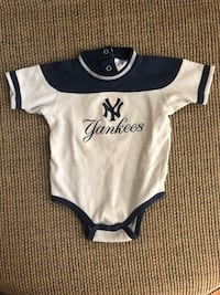 For The Little Major Leaguer In You Home-Size 18 mo Onesie-Team Yankee With # 13 on Back-Rodriguez Jackson, 08527
