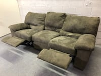 Green microfiber couch Lakewood, 80215