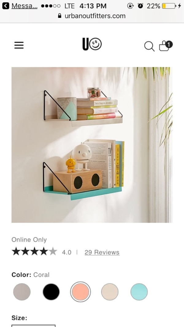 Pink Urban Outfitters Bookshelf