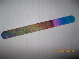 NEW GIFTABLE * Crystal  Nail File - Turquoise Pink Leopard Print