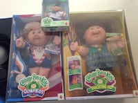 three Cabbage Patch Kids doll boxes