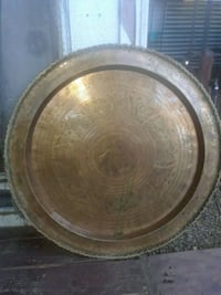 "30"" vintage brass tray Chinese Asian  Anderson, 96007"