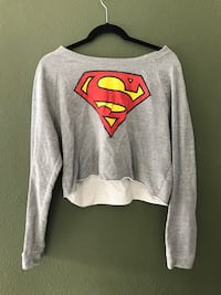 gray and red Superman print sweater Modesto, 95356