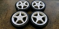 4 17 in 5x100 5x114.3 wheels rims and tires Germantown, 20876