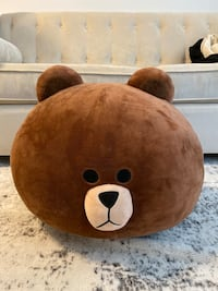Line Friends Season 2 Brown Big Head Soft Cushion 18""