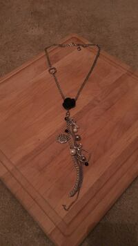 silver and black floral necklace Charleston, 29407