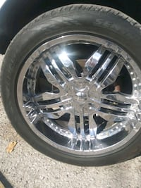 Univ 6 lug fit ford chev rims tires together or negotiable for trade Oklahoma City