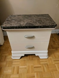 white wooden 2-drawer nightstand Vaughan, L6A 1B2