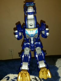 blue and white robot action figure Ajax, L1S 6T2