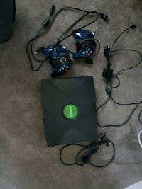 Original xbox with 2 controllers and wires