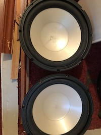 two black-and-gray subwoofers Raceland, 70394