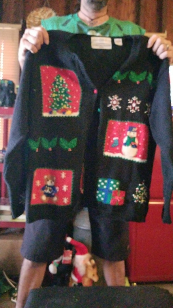 57cbd3accd8f Used Set of 2 Ugly Christmas sweaters for sale in Lake Wales - letgo