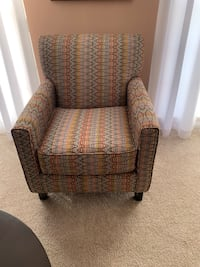 Brown and grey multi color fabric sofa chair Upper Marlboro, 20774