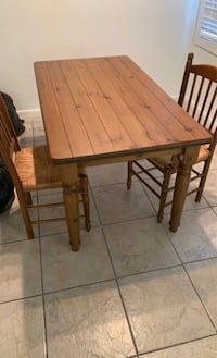 Pier 1 All wood table with set of 4 chairs
