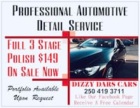 Professional Auto Detail Service - $149 - Courtesy Vehicle Now Available Victoria