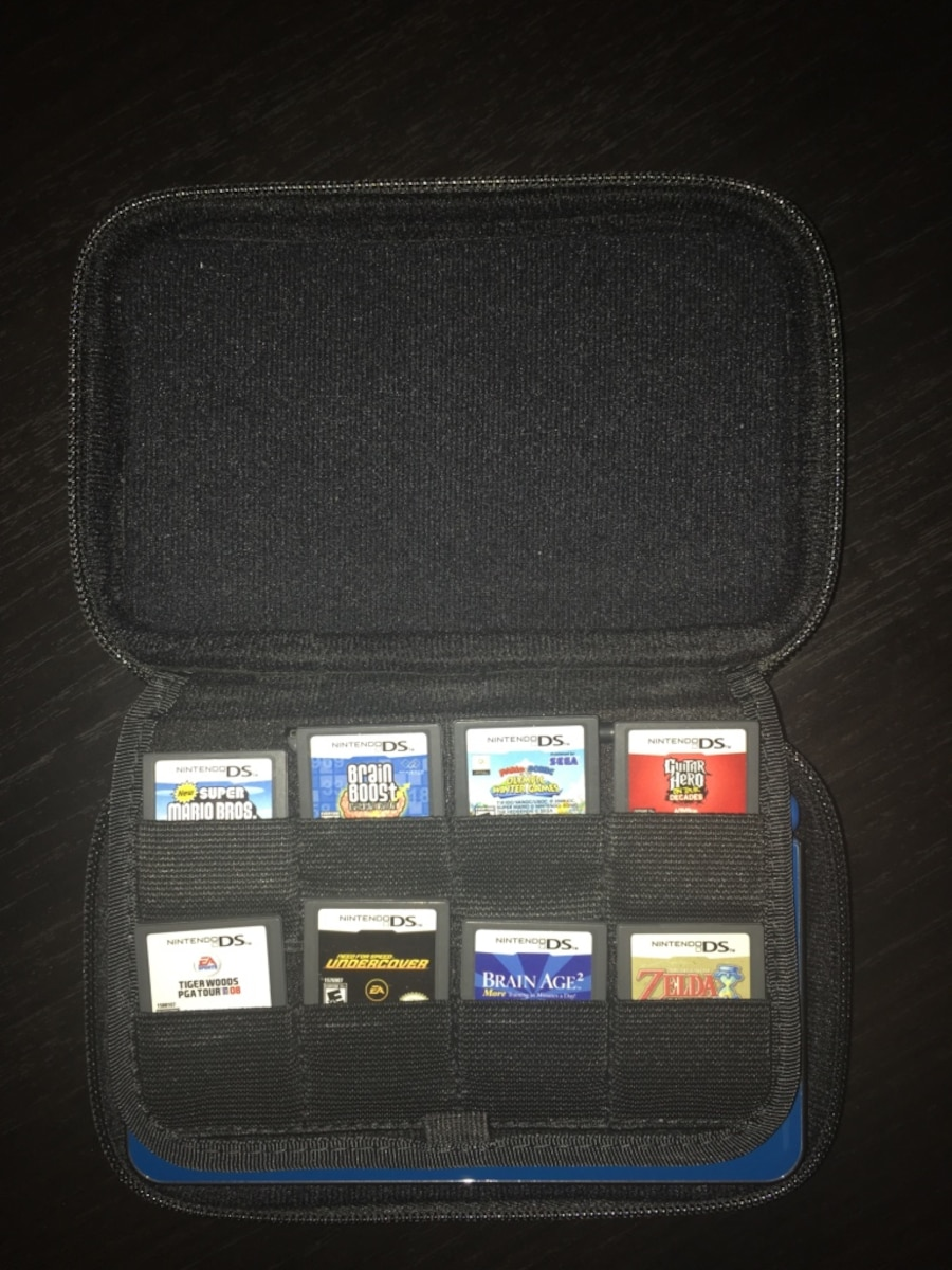 Nintendo DS XL includes 8 games, charger and carry case - good condition  - Naperville