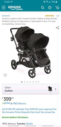 Options Elite tandem Stroller