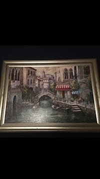 brown wooden framed painting of house North Port, 34287