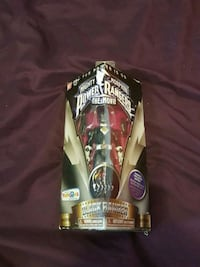 black Power Ranger Mighty Morphin action figure with pack