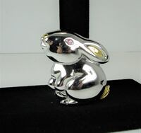 "VINTAGE SIGNED ""LC"" GOLD AND SILVER TONE RABBIT BROOCH PIN BROOCH PIN Manchester"