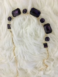 Gold-colored amethyst gemstone necklace Mont-Royal, H3R 2S4