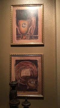 Two gold framed paintings Saint Johns, 32259
