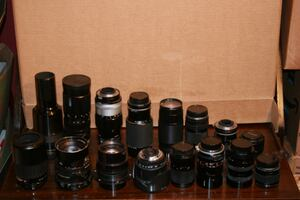 large lot of camera lenses