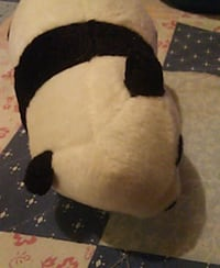 black and white dog plush toy Stafford, 22554