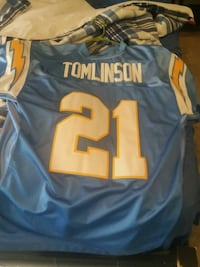 blue and yellow Tomlinson  jersey shirt Dover, 17315