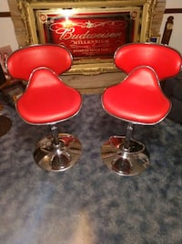 Retro hydraulic swivel bar stools
