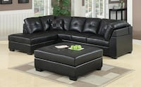 New Darie black or brown large sectional  Miami