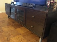 Brown wooden tv stand Alexandria, 22304