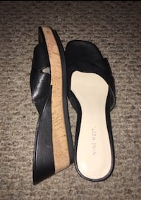 pair of black leather open-toe sandals Lafayette, 47905
