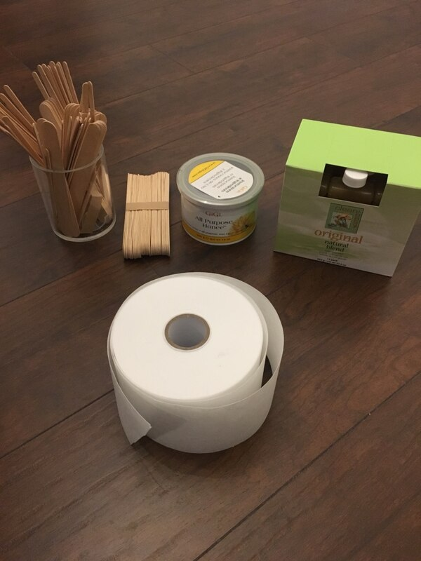 Leg waxing kit includes Satin smooth wax warmer, clean + easy roller, large  leg roller, wax,