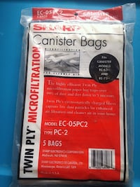 SHARP/CANISTER BAGS/EC-05PC2