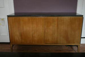 Mid-Century Designer wooden and marble sideboard