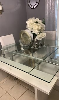Glass kitchen table That you can make smaller or larger Harvey, 70058