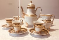 White and gold tea/ coffee set Vaughan, L4J 0J8