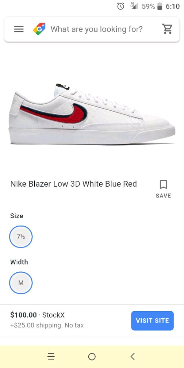 huge discount eb74a adae3 Nike blazer low too 3d